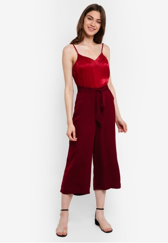 Something Borrowed red Cami Culotte Jumpsuit BBB11AA018790AGS_1