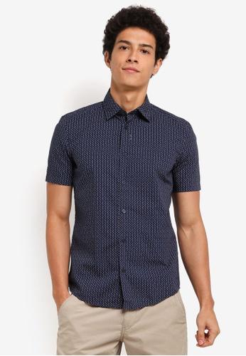 ESPRIT navy Woven Short Sleeve Shirt AAEEAAA0A2607FGS_1