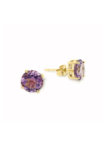 Jemocracy purple and gold JEMOCRACY - She Means Business Earrings - in Amethyst and 14k gold 26D34ACBA9382EGS_1