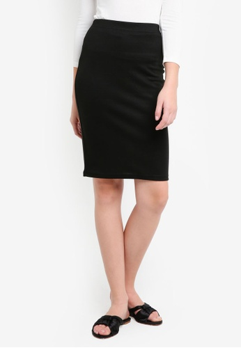 ZALORA BASICS black Basic Bodycon Skirt CB650AAFF34E79GS_1