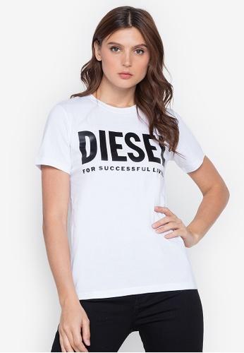 Diesel white T-Sily-Wx T-Shirt 953FAAA513B397GS_1