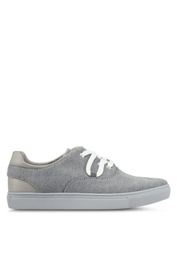 JAXON grey Mixed Materials Casual Sneakers 2EDB7SH0E92E13GS_1