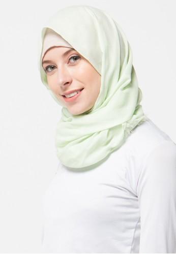 Aira Muslim Butik green Pashmina Foal Rawis AI892AA34XZTID_1