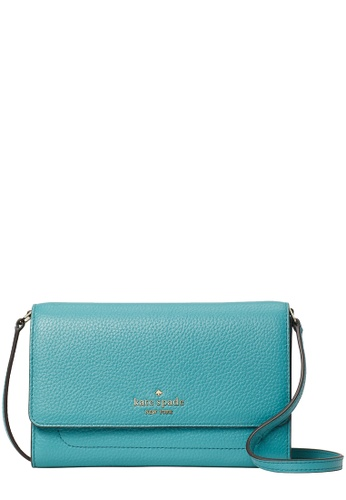 Kate Spade blue Kate Spade Harlow Wallet On a String in Stone Blue 832EDACDB834D2GS_1