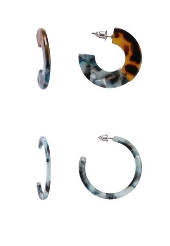 ONLY multi Zala Hoop 2-Pack Earrings 9B520ACF980936GS_1