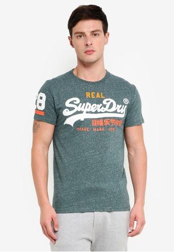 Superdry 藍色 印花T恤 78A32AA8F81F59GS_1