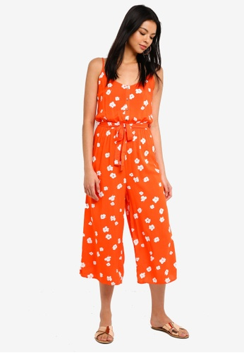 Supre orange Strappy Button Front Jumpsuit 36A41AA94892CCGS_1