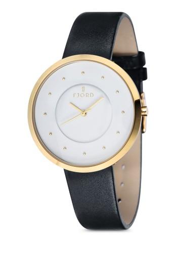 LAURENS 三指針皮革esprit outlet 桃園錶, 錶類, 飾品配件