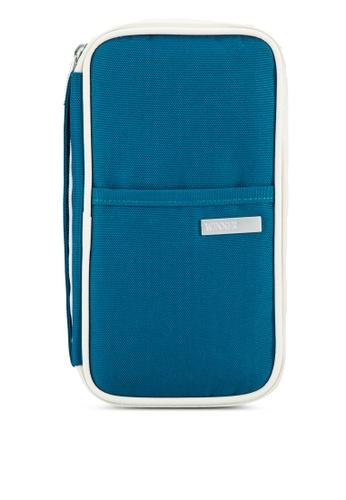 Bagstationz blue Hand Grab Travel Zip-Up Passport Wallet BA607AC90LQNMY_1