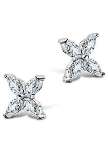 Vivere Rosse silver Precious Clover Stud Earrings VI014AC64IZBMY_1