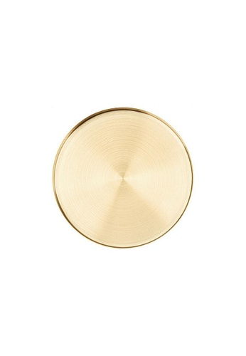 DILAS HOME Brass Effect Round Tray - Medium F45E2HL20E257BGS_1