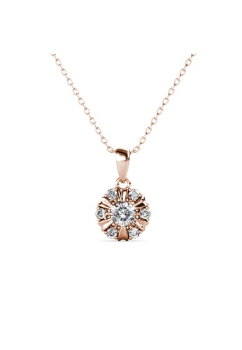 Her Jewellery gold Sun Petal Pendant (Rose Gold) -  Made with premium grade crystals from Austria 4BE2BAC8B25C98GS_1