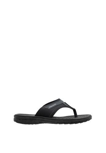 SEMBONIA black SEMBONIA Men Synthetic Leather Sandal (Black) SE598SH0SZ8UMY_1