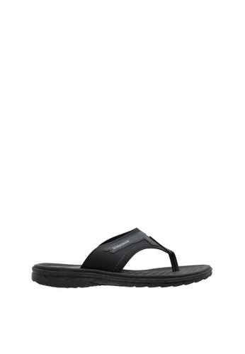 SEMBONIA black SEMBONIA Men Synthetic Leather Slipper (Black) SE598SH0SZ8UMY_1