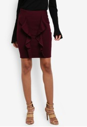 Dorothy Perkins purple Grape Double Ruffle Mini Skirt DO816AA0S7B1MY_1