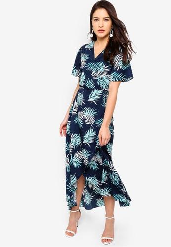 ZALORA multi Asymmetrical Hem Wrap Dress 98D1BAA1A07C27GS_1