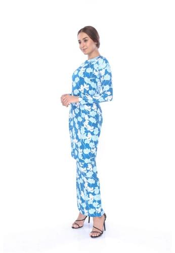 Amar Amran blue Kurung Moden Slim Fit Iris 5ADF4AA667FEAFGS_1