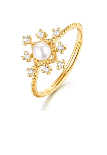 SUNSET gold Premium 9K Gold Pearl Ring C2313AC2C902A8GS_1