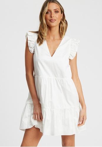 The Fated white Simonne Dress 80B90AA6617D2BGS_1