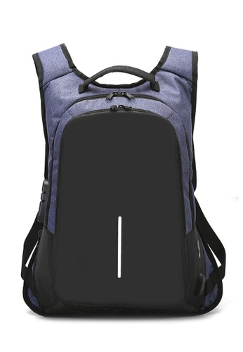 Jackbox blue Anti Theft & Snatch Business Laptop Backpack with Password Lock & USB Charging Port 538 (Blue) C5E6EACDACD81AGS_1