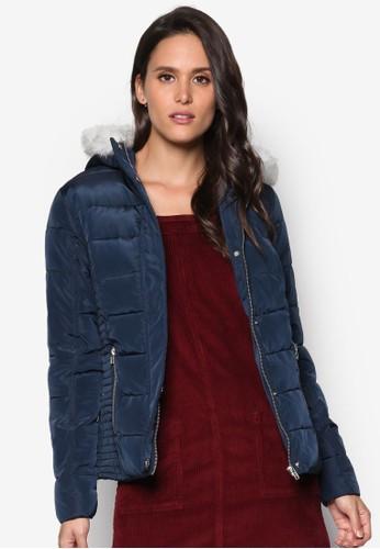 毛呢連帽羽絨外套, 服飾esprit 品牌, 夾克 & 大衣