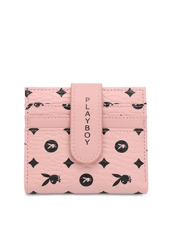 PLAYBOY BUNNY pink Logo Cardholder EC8A8AC01B3F5DGS_1