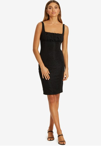 BWLDR black Clove Textured Dress 66714AA2665A88GS_1