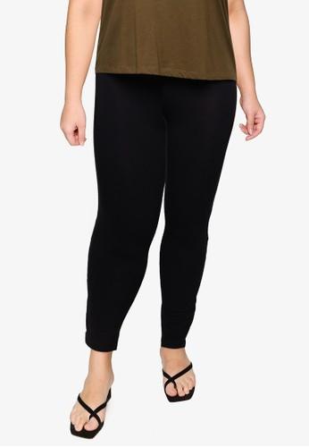 OVS black Plus Size Stretch Leggings F3256AA4E151E6GS_1