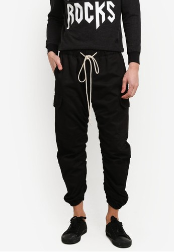 Flesh IMP black Curved Jogger Pants FL064AA0RTP7MY_1