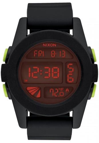 Nixon black and red Nixon - Unit - All Black/Red NI855AC59SXWSG_1