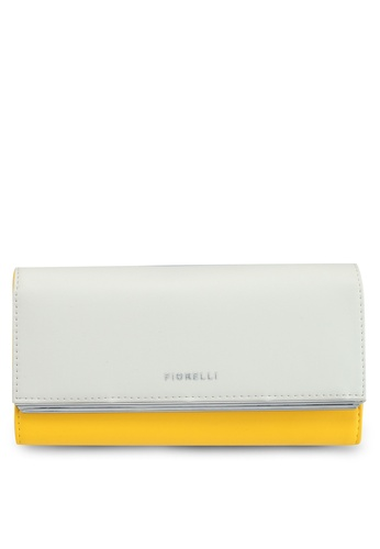 Fiorelli white and yellow Addison Wallet CA9C5AC6587A2DGS_1
