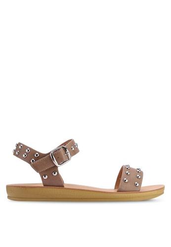 Noveni brown Stud Sandals C84E8SHC59182CGS_1