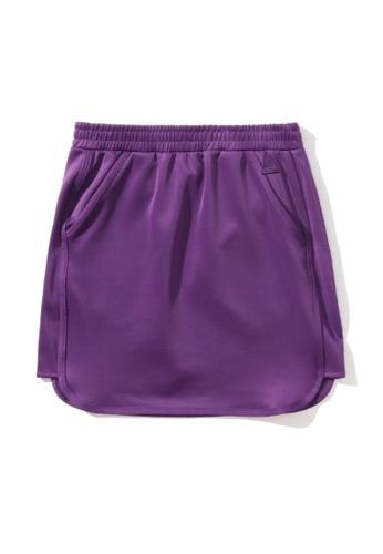 Mini cream purple Dolphin hem skirt 7C349AA2AA782AGS_1