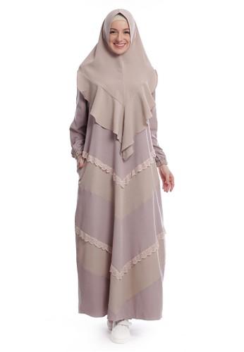 Yanna Azwar purple Bahiya Syar'i Dress Set Hijab-Lavender Cream 9AEA5AA0A1941AGS_1