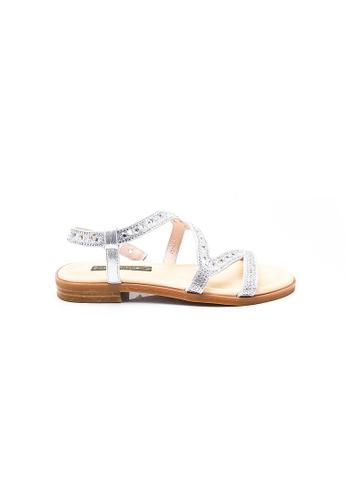Elisa Litz silver Tracee Sandals (Silver) E9FD7SHFB3F632GS_1