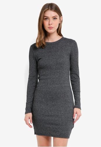 Supre grey Longsleeve Rib Bodycon Dress E4331AAF3B011DGS_1