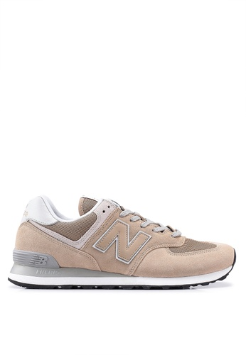 New Balance brown 574 Essential Shoes 3507FSH863852EGS_1