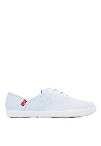 Life8 藍色 Casual 水洗布 軟木棉花糖系列 休閒女鞋-09680-淺藍 LI216SH099XETW_1