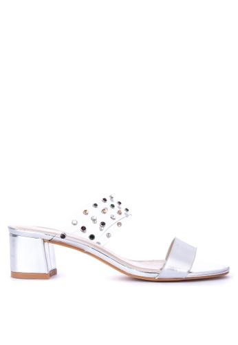 02bd5b10d6d Shop CLN Fausta Metallic Two Strap Low Heel Sandals Online on ZALORA  Philippines