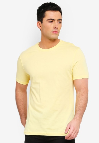 fbc7d9f1c2197 LC Waikiki yellow Crew-Neck Short Sleeve Basic T-Shirt B3691AA819EEDAGS 1
