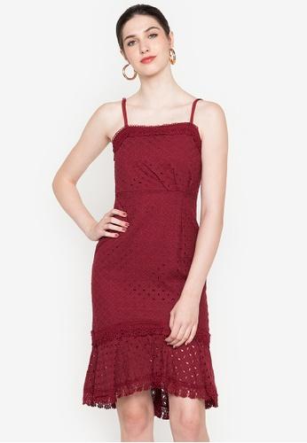 BOTTOMLINE CLOTHING red Adalee Lasercut Mermaid Dress 2F32EAAC6F3414GS_1