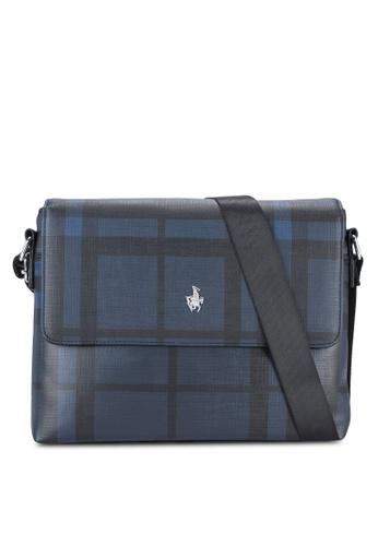 Swiss Polo blue Swiss Polo Messenger Bag SW912AC18XFLMY_1