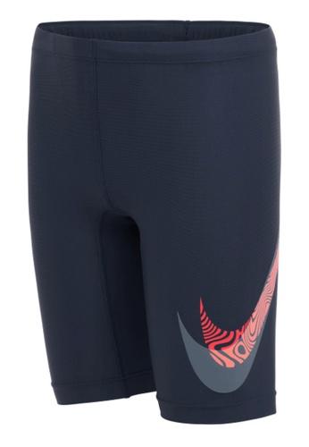 Nike blue Nike Swim Boy's Liquify Swoosh Jammer 8B108US23D0851GS_1