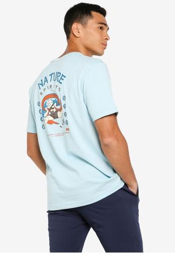 361° blue Cross Training Short Sleeve T-Shirt 90D5AAAAAB6FA9GS_1