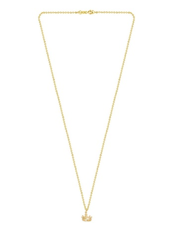 4e10a384a8503 Gold Crown Necklace, Love in Infinity