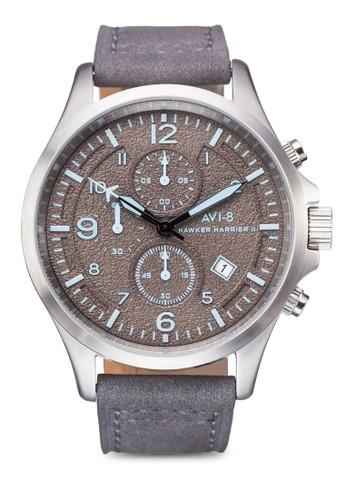Hawker Harrier II 皮革大圓錶, 錶類, 皮革esprit 高雄錶帶