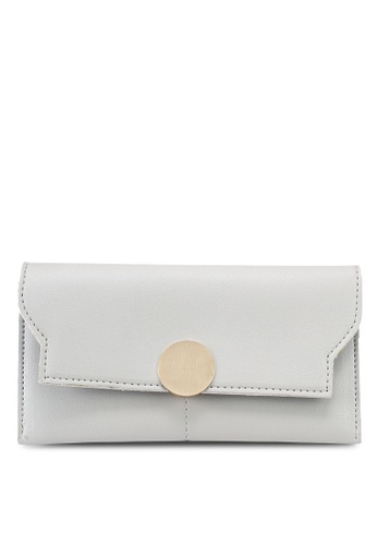 Verchini grey Verchini Party Clutch C123AACA4B7B44GS_1
