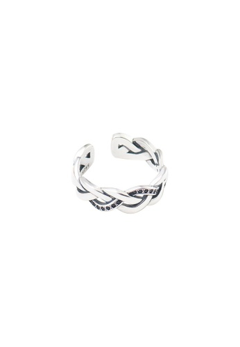 A-Excellence silver Premium S925 Sliver Geometric Ring 9C89FAC3A43930GS_1