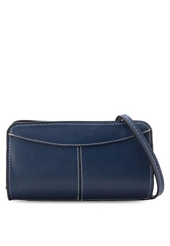 撞色滾邊仿皮手拿包, 包, 飾品esprit暢貨中心配件