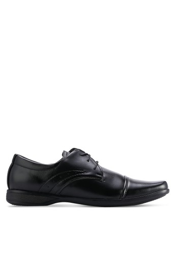 UniqTee black Cap Toe Derby With Sewing Detail UN097SH03WMQMY_1
